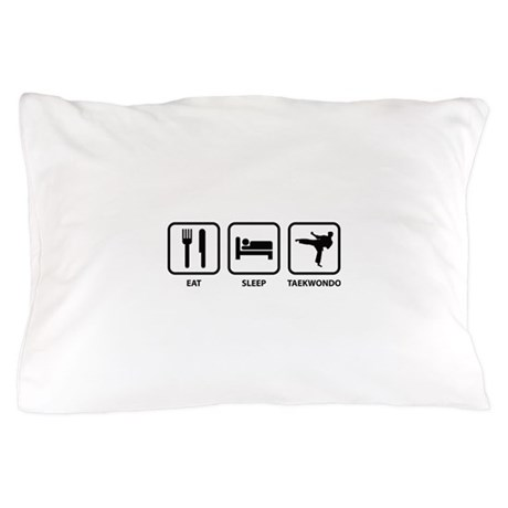 Eat Sleep Taekwondo Pillow Case