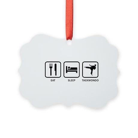 Eat Sleep Taekwondo Picture Ornament