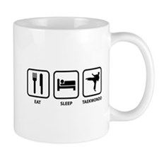 Eat Sleep Taekwondo Small Mug