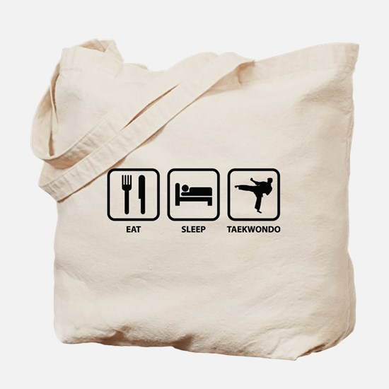 Eat Sleep Taekwondo Tote Bag
