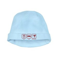 Eat Sleep Taekwondo baby hat