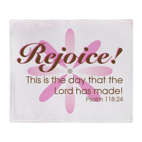 Rejoice! -- Throw Blanket