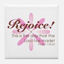 Rejoice! -- Tile Coaster