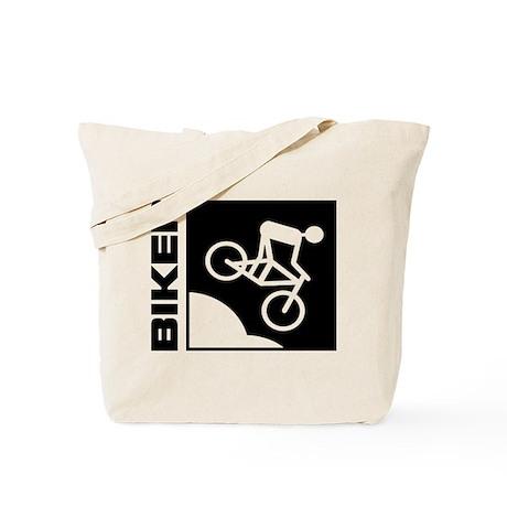 biker cycling mountain bike mtb downhill Tote Bag