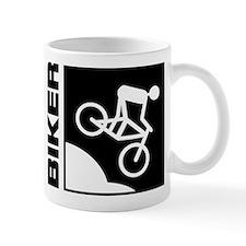 biker cycling mountain bike mtb downhill Mug