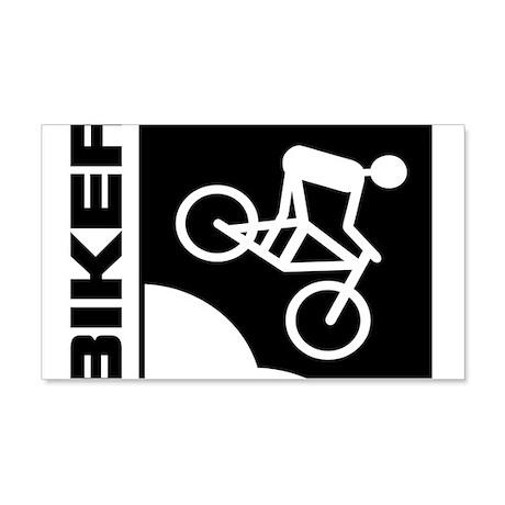 biker cycling mountain bike mtb downhill 20x12 Wal