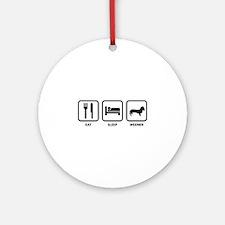 Eat Sleep Weener Ornament (Round)