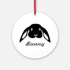bunny hare rabbit cute Ornament (Round)