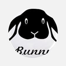 "bunny hare rabbit cute 3.5"" Button"