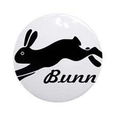 bunny hare rabbit Ornament (Round)