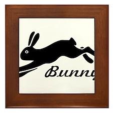bunny hare rabbit Framed Tile