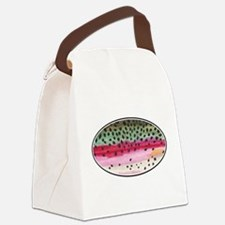 Rainbow Trout Fishing Canvas Lunch Bag
