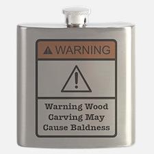 Bald Warning Sign Flask