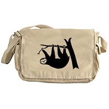 sloth lazy animal freeclimber Messenger Bag