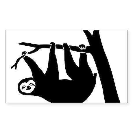 sloth lazy animal freeclimber Sticker (Rectangle)