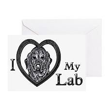 B@W Labrador 1 Greeting Card