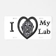 B@W Labrador 1 Aluminum License Plate