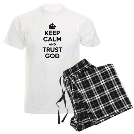 """Keep Calm"" Men's Pajamas (White Top)"