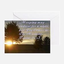 Joy N the Morning Greeting Card
