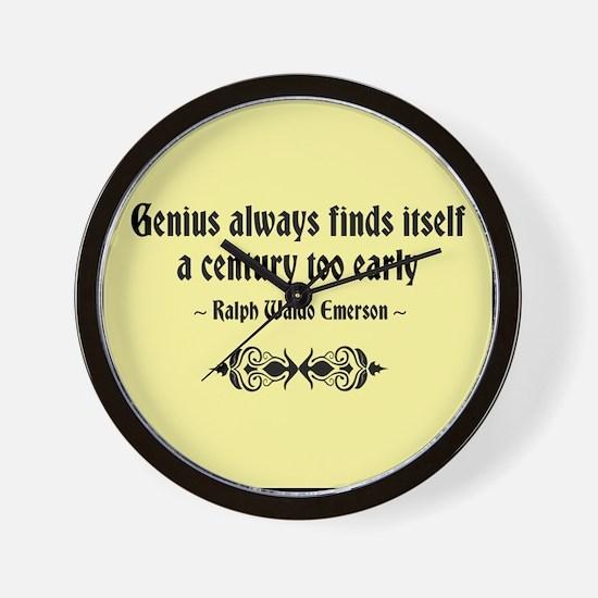 Early Genius Wall Clock