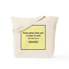Early Genius Tote Bag