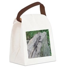 Fence Lizard Canvas Lunch Bag