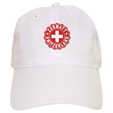 Zermatt White Cross Baseball Cap