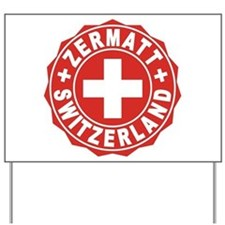 Zermatt White Cross Yard Sign