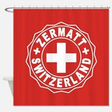 Zermatt White Cross Shower Curtain