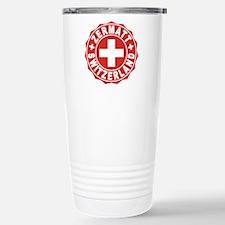Zermatt White Cross Stainless Steel Travel Mug