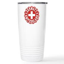 Zermatt White Cross Travel Coffee Mug