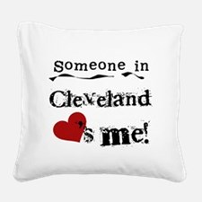 lovesmecleveland.png Square Canvas Pillow