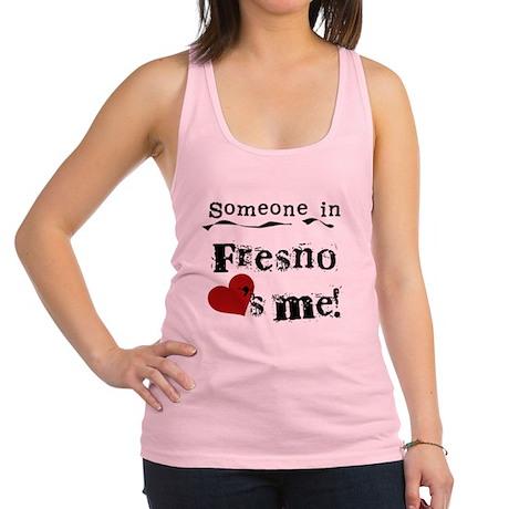 lovesmefresno.png Racerback Tank Top