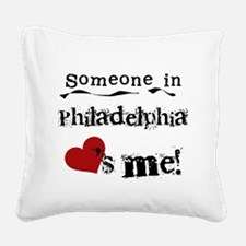 lovesmephilly.png Square Canvas Pillow