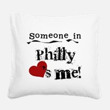 lovesmephilly2.png Square Canvas Pillow