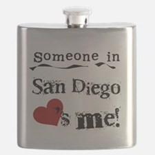 Someone in San Diego Loves Me Flask