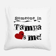 lovesmetampa.png Square Canvas Pillow