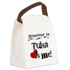 LOVESMETULSA.png Canvas Lunch Bag