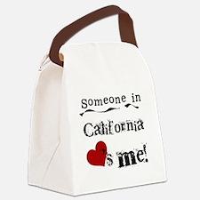 LOVESMECALIF.png Canvas Lunch Bag