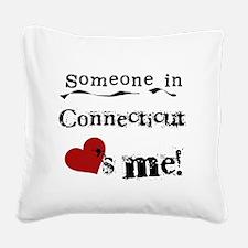 lovesmeconnecticut.png Square Canvas Pillow