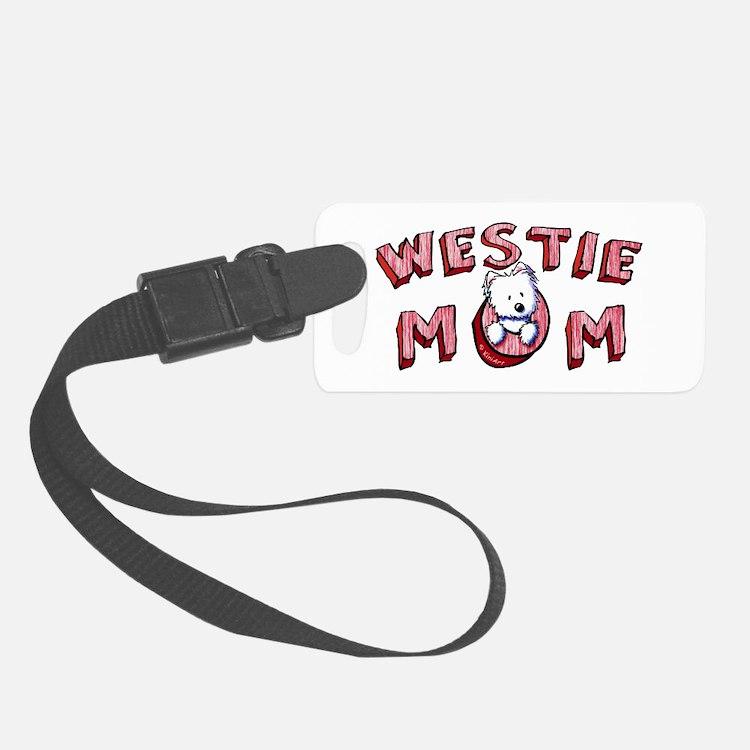 Westie Mom (Red) Luggage Tag