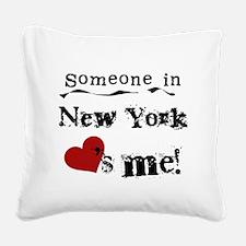 lovesmenewyork.png Square Canvas Pillow