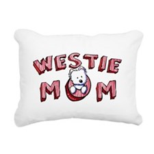 Westie Mom (Red) Rectangular Canvas Pillow