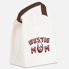 Westie Mom (Red) Canvas Lunch Bag