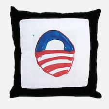 Obama O Throw Pillow