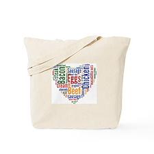 Low Carb Heart Tote Bag