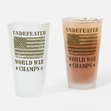 World War Champs Camo Drinking Glass