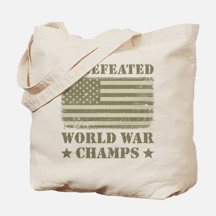 World War Champs Camo Tote Bag