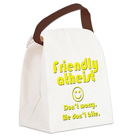 Friendly Atheist Canvas Lunch Bag