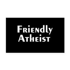 Friendly Atheist Rectangle Car Magnet